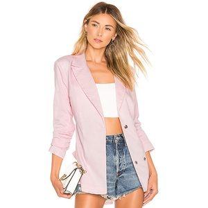 Lovers + Friends Tilda Pink Tweed Jacket